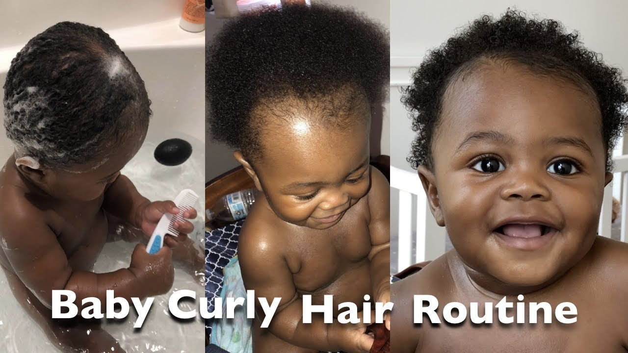 African American Baby Hair Care Baby Boy Hair Routine Youtube