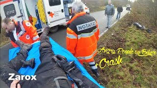Angry People vs Biker + Horror Crash  | 2018