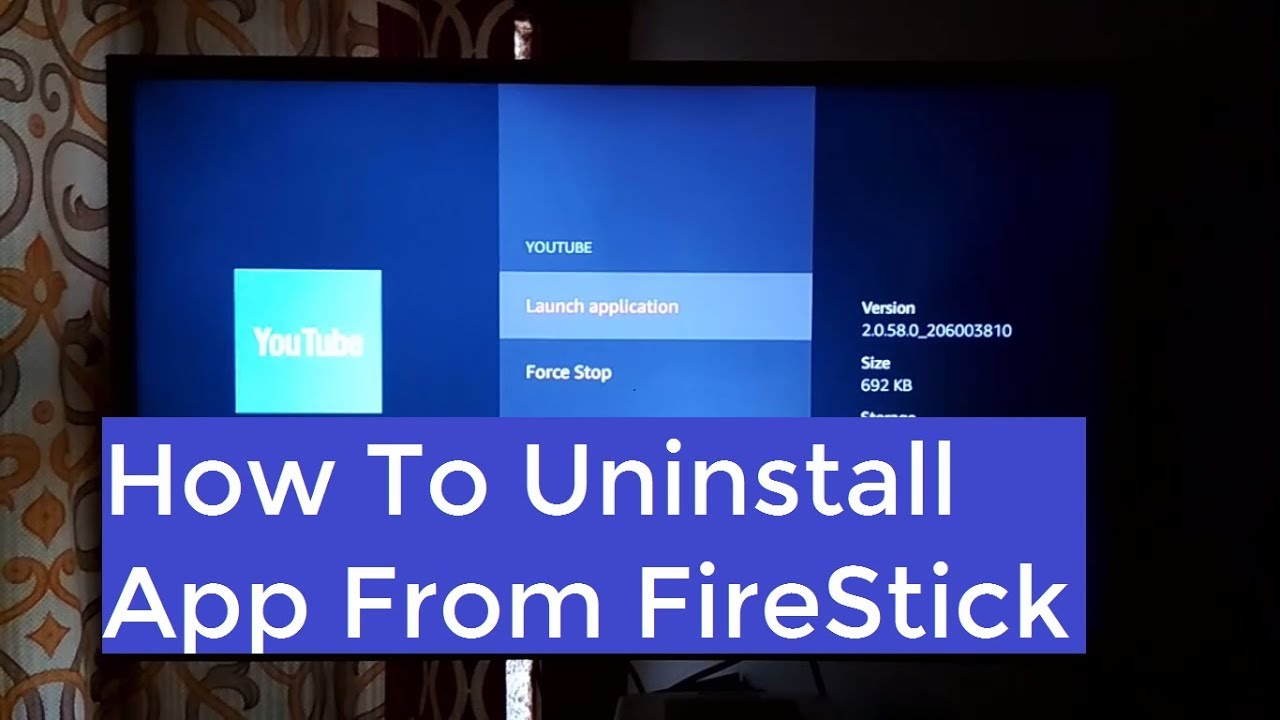 Uninstall app from Amazon Fire Stick