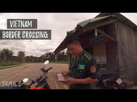 Crossing Vietnam Border to Cambodia on a Motorbike Vietnamese Plates