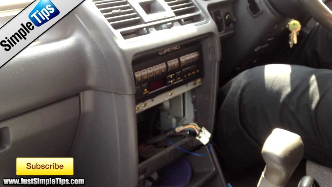 Radio Removal Mitsubishi Pajero | JustAudioTips  YouTube