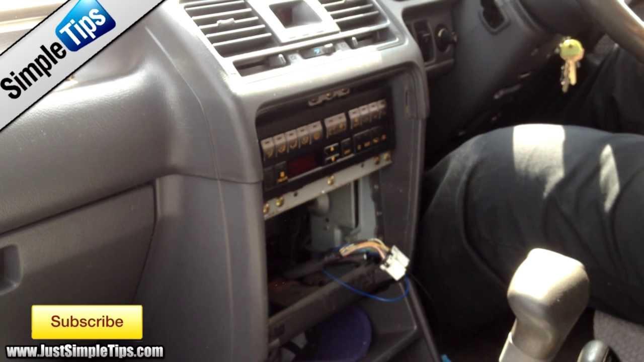 Radio Removal Mitsubishi Pajero   JustAudioTips  YouTube