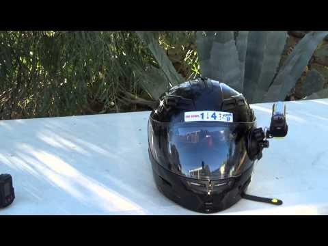 Sony Action Camera HDR-AS20 Moto Vlog Helmet Setup
