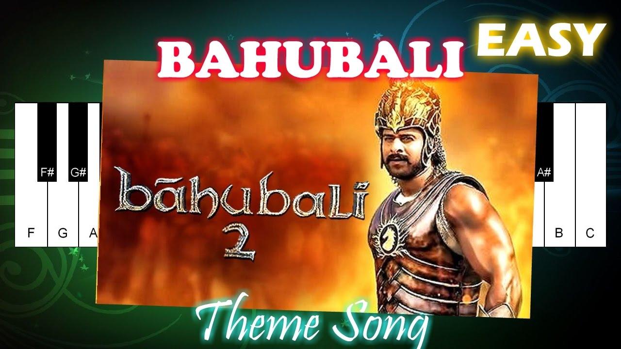 Bahubali 2 Theme Music - Easy Piano Tutorial - Play Piano Song