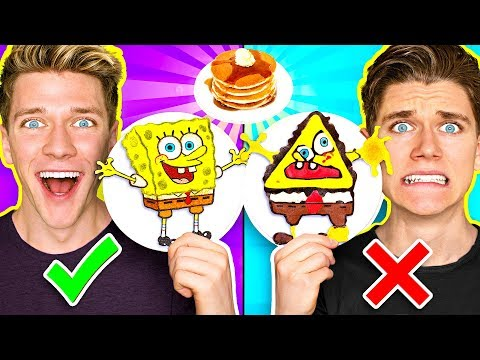 Thumbnail: PANCAKE ART CHALLENGE 3!!! Learn How To Make Spongebob Star Wars Jedi & Wonder Woman DIY Pancake!