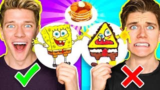 PANCAKE ART CHALLENGE 3!!! Learn How To Make Sp...