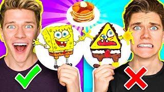 Download PANCAKE ART CHALLENGE 3!!! Learn How To Make Spongebob Star Wars Jedi & Wonder Woman DIY Pancake! Mp3 and Videos