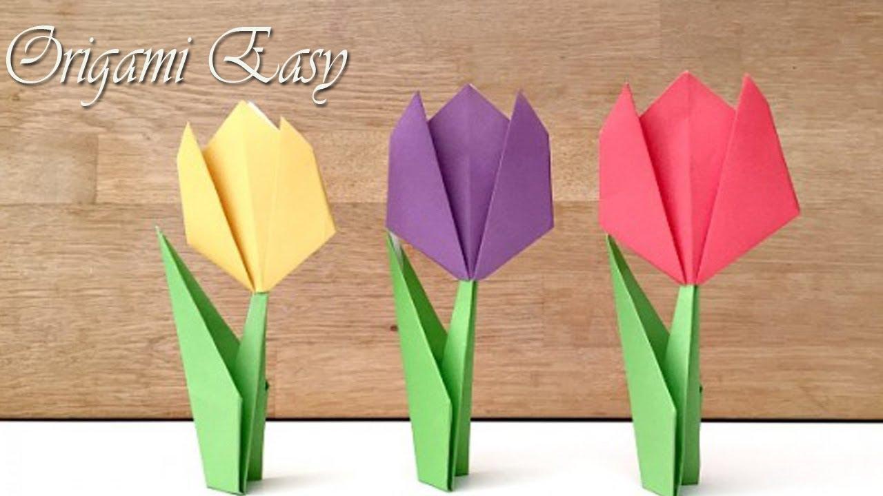 Cara Membuat Bunga Dari Kertas Mudan Dan Gampang Origami Youtube