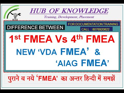 FMEA (AIAG+VDA), Major Changes In OLD FMEA & NEW FMEA, 1st Edition And 4th Edition FMEA Difference