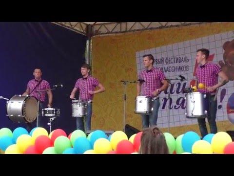 Видео, Drummers show, marching drums music Шоу барабанщиков Ритмикон маршевые барабаны