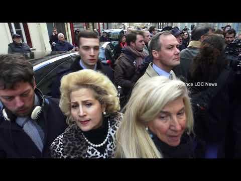 Des juifs de France soutiennent Marine Le Pen. Paris/France -  28 Mars 2018