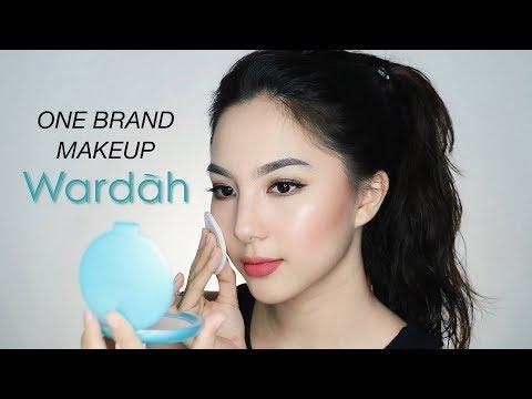 WARDAH One Brand Makeup Tutorial (Full Face Only 300K+) �