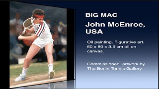 John McEnroe Big Mac Oil on Canvas Painting ATP Tennis - Sports Art 4 | The Berlin Tennis Gallery