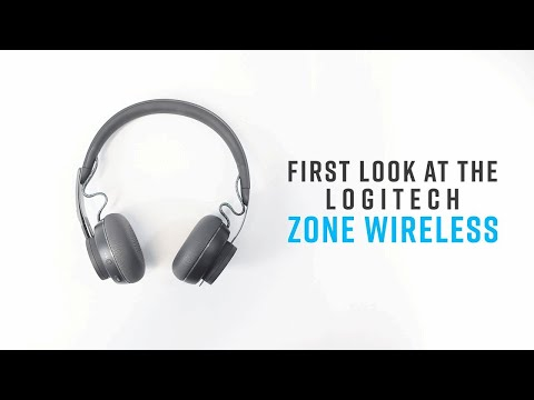 First Look At The Logitech Zone Wireless Headset Youtube