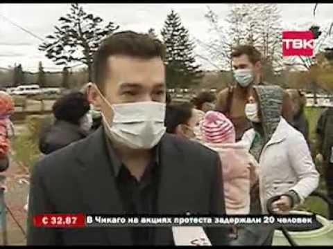 В Красноярске состоялся флэшмоб мамочек в масках