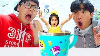 Boram and Konan Ddochi enter the Magic water cup