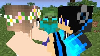 Zombie and Enderman life funny moments end - Minecraft Animation