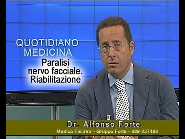 Quotidiano Medicina Focus 17/9/15. Paralisi del nervo facciale.Terapia, riabilitazione
