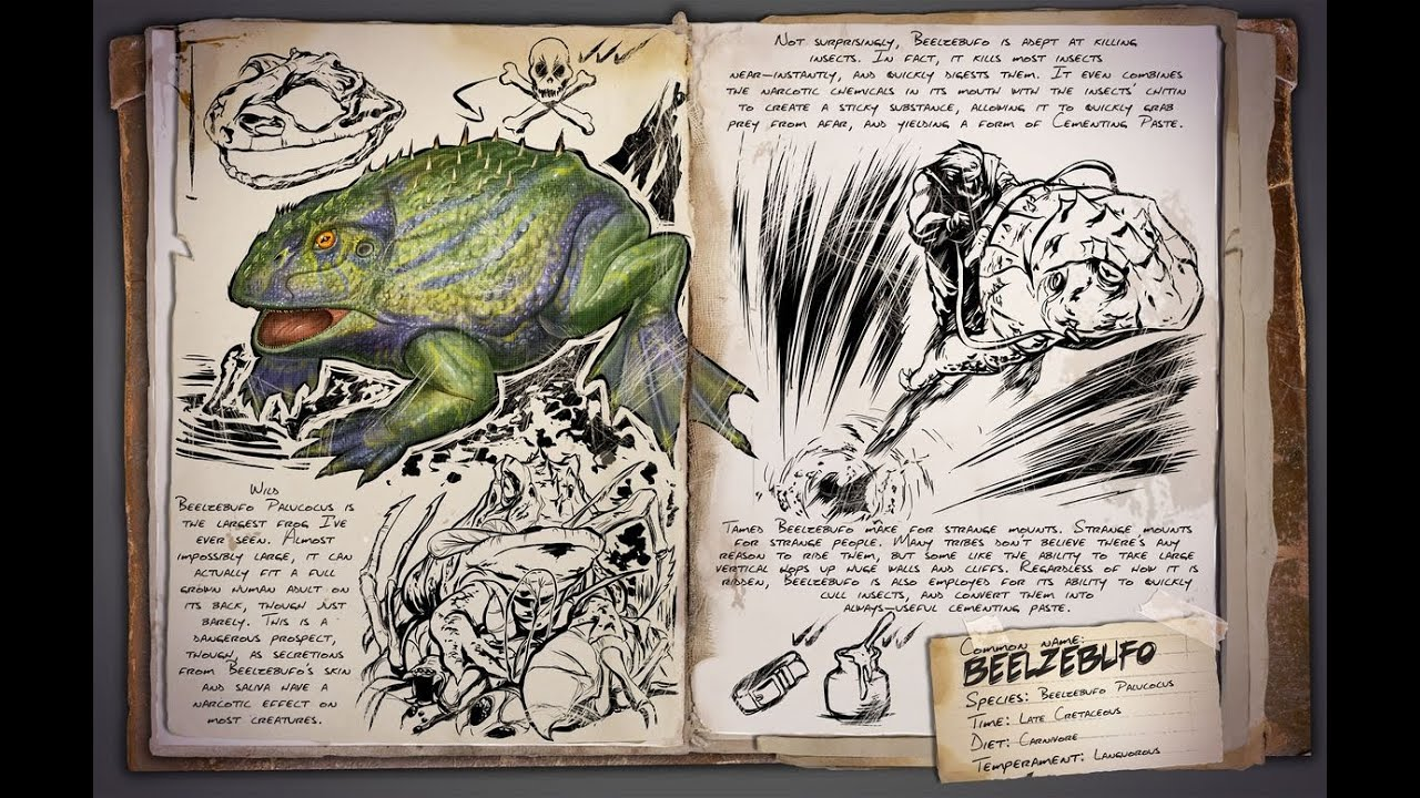 Ark : Survival Evolved Let�s Play Pvp Deutsch Update 216 Beelzebufo Dire  Wolf Megaloceros Und Biome  Youtube