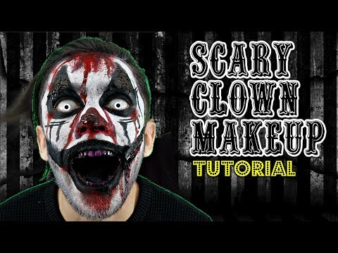 BLOODY SCARY CLOWN | HALLOWEEN MAKEUP TUTORIAL