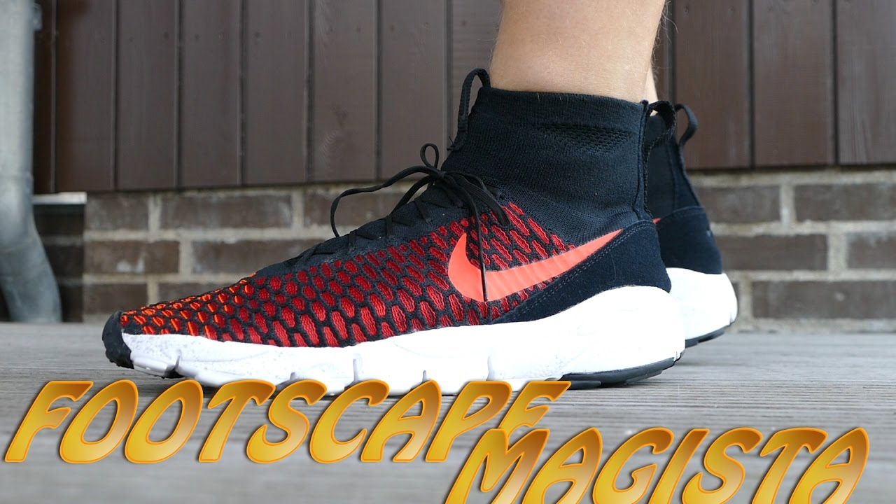 Lugar de la noche fácilmente Traición  Nike Air - Footscape Magista Flyknit (Crimson Red / Blue) - On Feet -  YouTube