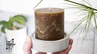 Simple Concrete Candle Holder - DIY