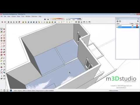 How to build terraced house #4 - build second floor - Sketchup Tutotrial