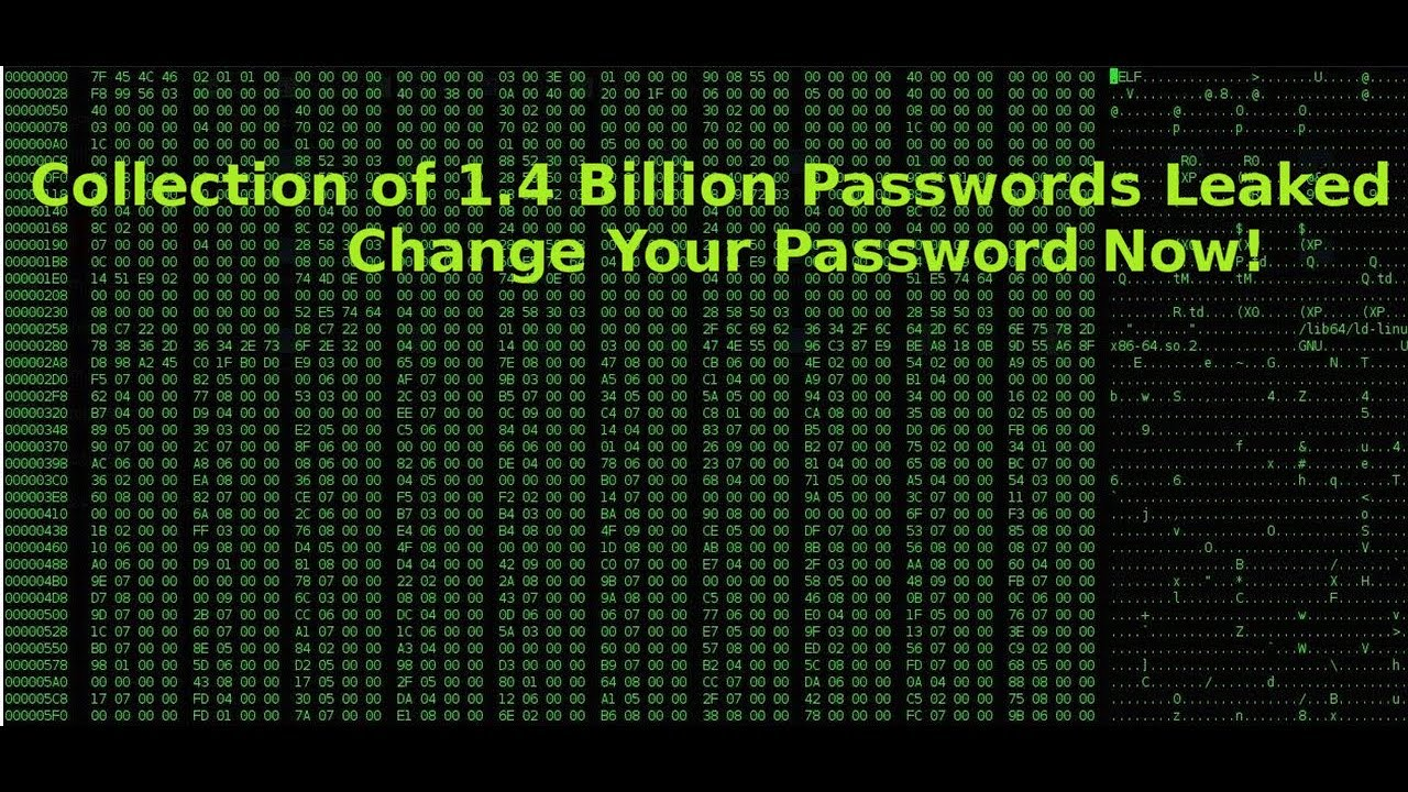Collection of 1 4 Billion Passwords leaked, Change Your Password Now!
