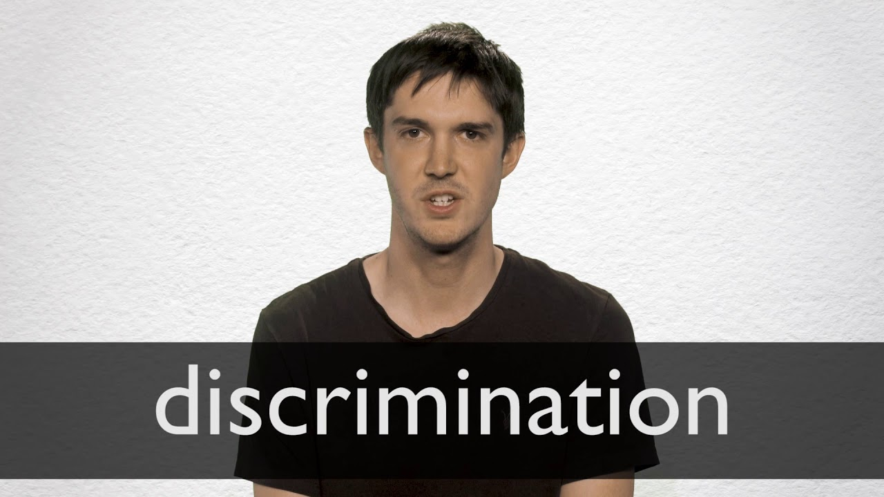 How to pronounce DISCRIMINATION in British English