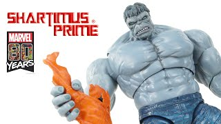 Marvel Legends Grey Hulk 80 Years Con Exclusive Hasbro Comic Book Action Figure Review