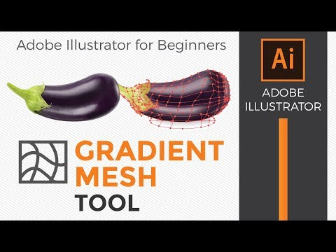 Adobe Illustrator: How to use the gradient mesh tool for beginners thumbnail