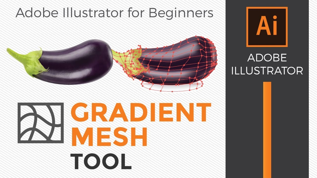 Adobe Illustrator: How to use the gradient mesh tool for beginners