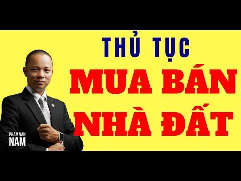 Quy trình, Thủ tục mua bán nhà đất, Sang tên đổi chủ sổ đỏ thổ cư I Phạm Văn Nam