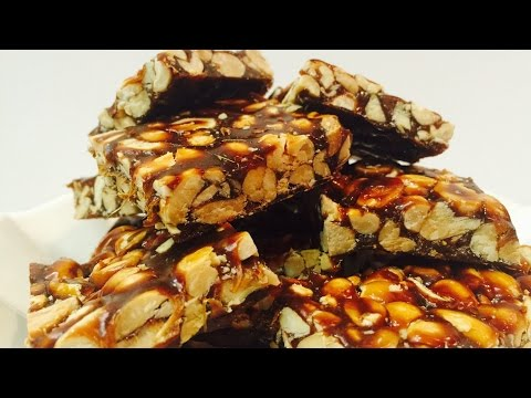 Peanut Brittle made with Jaggery Chicki/Jugu Paak