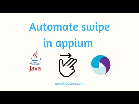 Automate swipe using appium - use of TouchAction - qavalidation