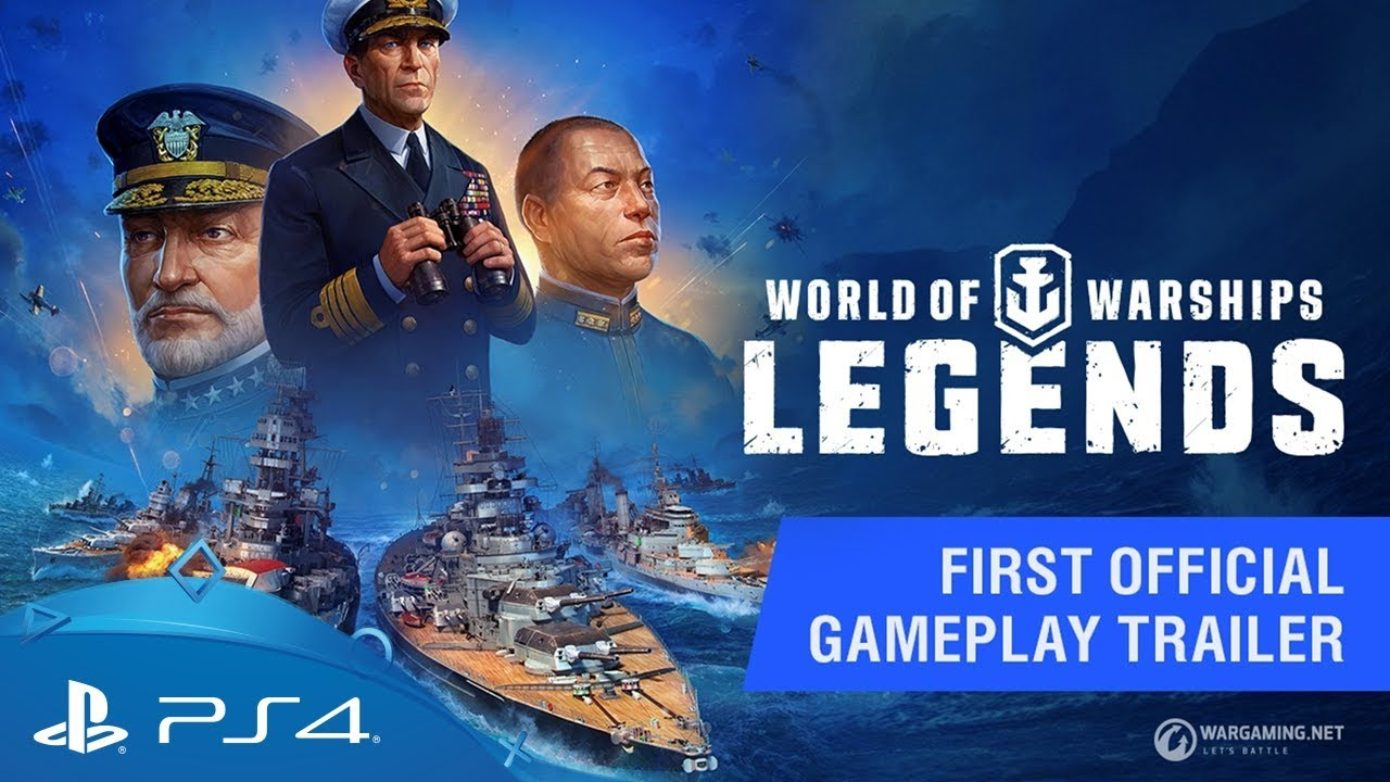 World of Warships: Legends   First Official Gameplay Trailer   PS4