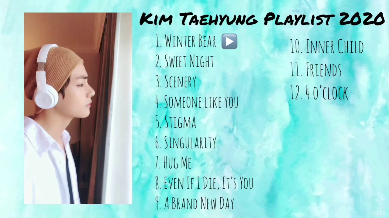 BTS Kim Taehyung V Playlist 2020  Solo and Cover Songs  With Subtitles  With Translation