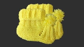 Ponponlu Kolay Bebek Patiği Nasıl Yapılır? (Baştan Sona Anlatım) - bebek örgü modelleri