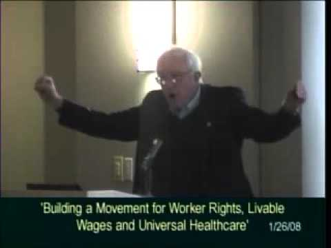 Bernie Sanders + CWA's Larry Cohen Rip Pres. Bush, Defend Workers' Rights (2008)