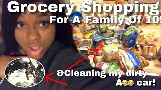 GROCERY SHOPPING FOR A FAMILY OF 10! thumbnail