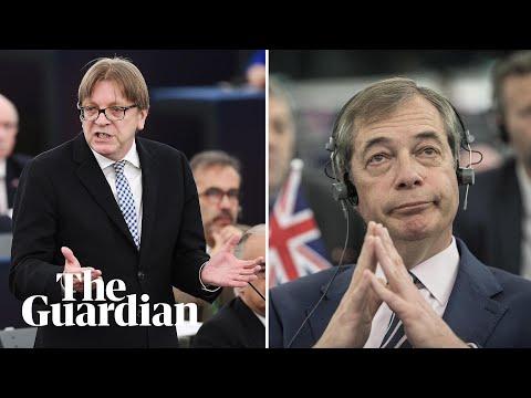 Guy Verhofstadt compares Nigel Farage to Blackadder character