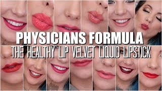 NEW DRUGSTORE LIQUID LIPSTICK LIP SWATCHES I THE HEALTHY LIP BY PHYSICIANS FORMULA I BRITECLARKE