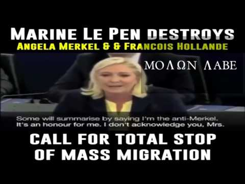 BREAKING   Marine Le Pen Destroys Angela Merkel & Francis Hollande