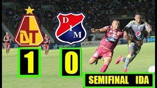 TOLIMA  VS  MEDELLIN  1-0  SEMIFINAL LIGA AGUILA IDA ( RESUMEN) 30/5/18