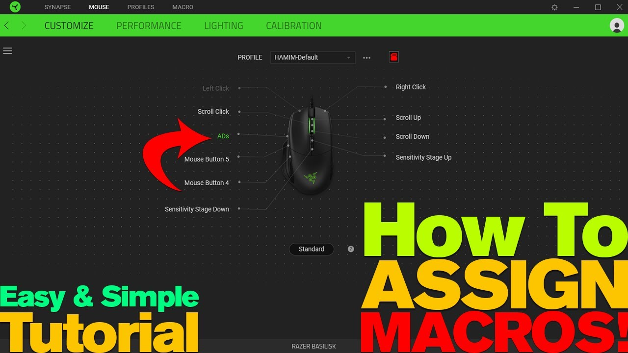 How to Assign MACRO to Razer Mouse - 2019