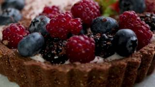 Tortinha Festiva de Chocolate com Framboesa