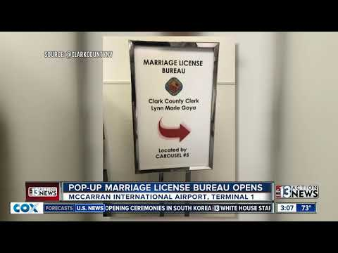 Pop-up marriage license bureau opens at airport
