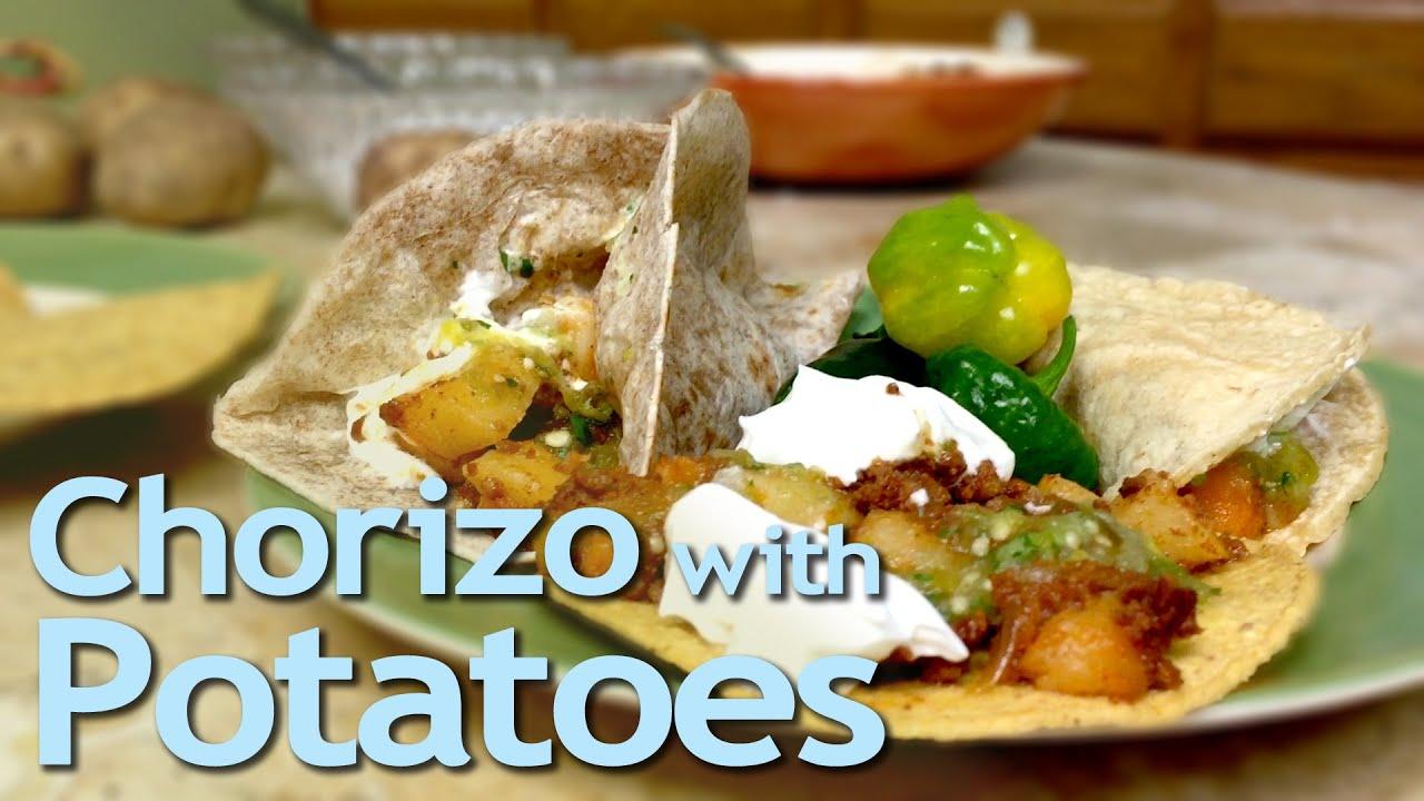 How To Cook Chorizo With Potatoes  Chorizo Con Papas  Mom's Kitchen