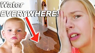 Our NEW HOUSE Got FLOODED By 4 Year Old! BIG TROUBLE!!