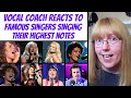 Vocal Coach Reacts to Famous Singers Hitting Their Highest Notes Ever Lowest To Highest